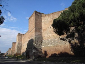 Old Roman city walls