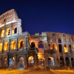 Colosseum Rome by night