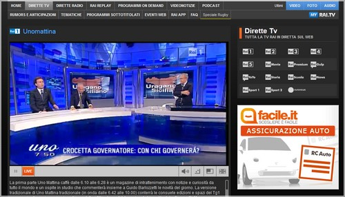 Rai.tv - Rai Uno online from abroad