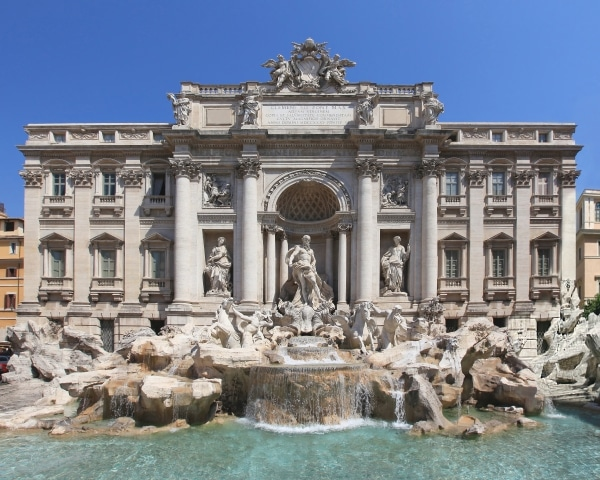 Trevi Fountain Rome Tourist